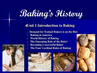Baking's History