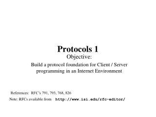 Protocols 1