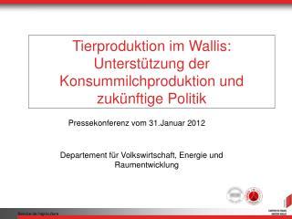 Tierproduktion im Wallis: Unterstützung der Konsummilchproduktion und zukünftige Politik