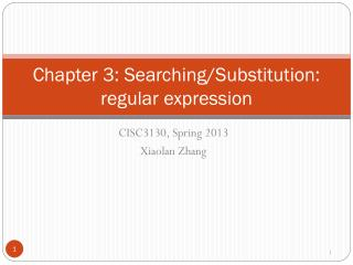 Chapter 3: Searching/Substitution: regular expression