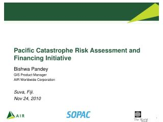Pacific Catastrophe Risk Assessment and Financing Initiative