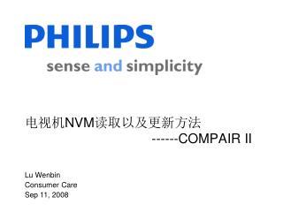 电视机 NVM 读取以及更新方法                                    ------COMPAIR II