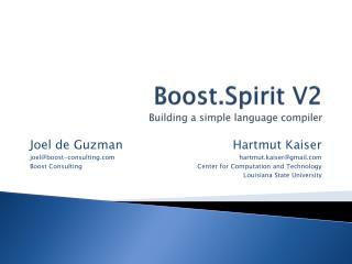 Boost.Spirit  V2 Building a simple language compiler