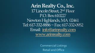 Commercial Listings Retail and Office