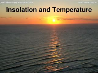 Insolation and Temperature
