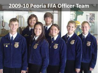 2009-10 Peoria FFA Officer Team
