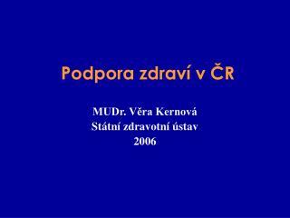 Podpora zdraví v ČR