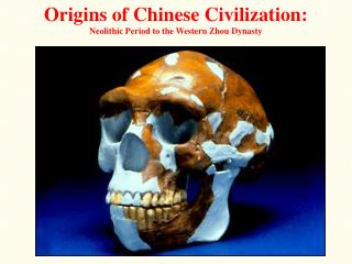 Origins of Chinese Civilization: Neolithic Period to the Western Zhou Dynasty