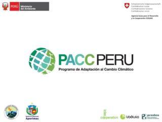 Estudios sobre Escenarios Socioecon micos y Valoraci n de los Impactos del Cambio Clim tico al 2030 - Cusco y Apur mac -
