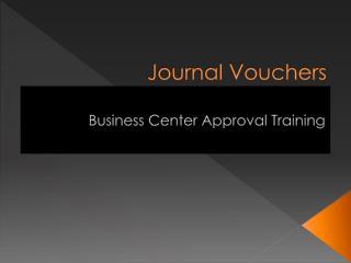 Journal Vouchers