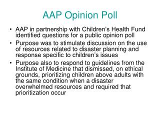 AAP Opinion Poll