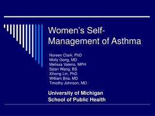 Women's Self-Management of Asthma