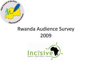 Rwanda Audience Survey 2009