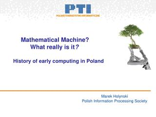 Marek Holynski Polish Information Processing Society