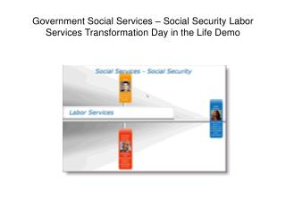 Government Social Services – Social Security Labor Services Transformation Day in the Life Demo