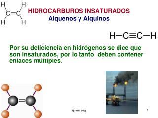 HIDROCARBUROS INSATURADOS Alquenos y Alquinos