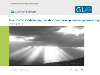 Use of offsite data to improve short term wind power ramp forecasting