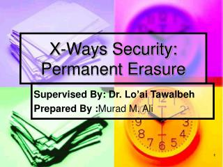 X-Ways Security: Permanent Erasure