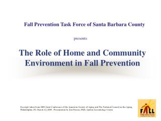 The Role of Home and Community Environment in Fall Prevention