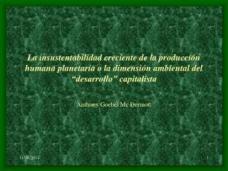 La relación Sociedad y Naturaleza como relación histórica