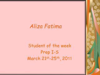 Aliza Fatima