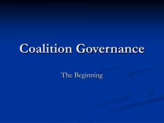 Coalition Governance