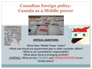 Canadian foreign policy-  Canada as a Middle power