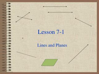 Lesson 7-1
