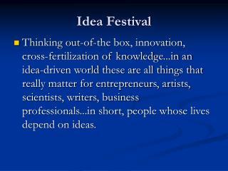 Idea Festival