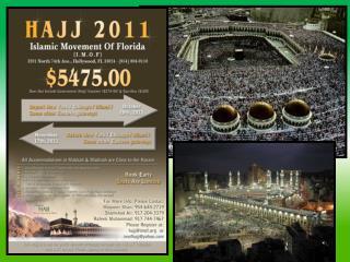 2010: 3 million pilgrims participated in the hajj