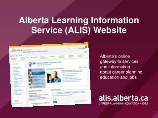 Alberta Learning Information Service (ALIS) Website