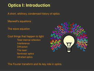 Optics I: Introduction