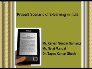 Present Scenario of E-learning in India