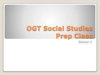 OGT Social Studies Prep Class