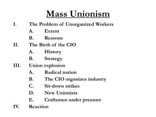 Mass Unionism