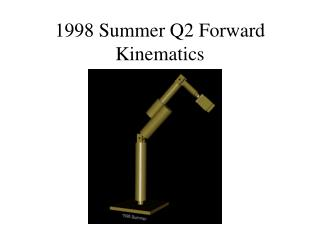 1998 Summer Q2 Forward Kinematics