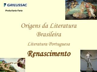 Origens da Literatura Brasileira