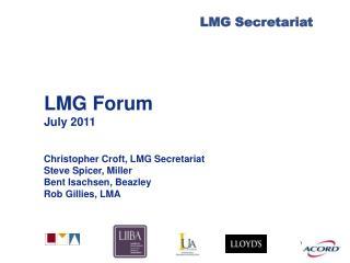 LMG Forum July 2011