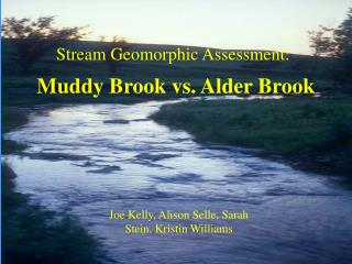Muddy Brook vs. Alder Brook