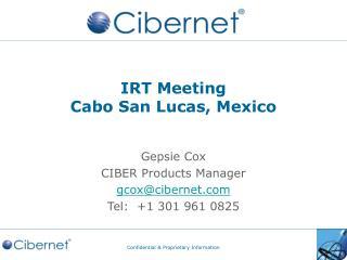 IRT Meeting Cabo San Lucas, Mexico