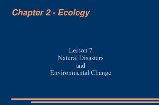 Chapter 2 - Ecology