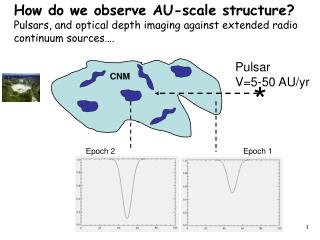 Pulsar V=5-50 AU/yr