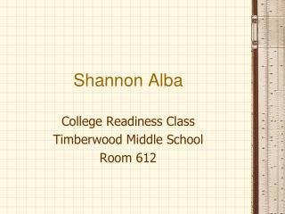 Shannon Alba