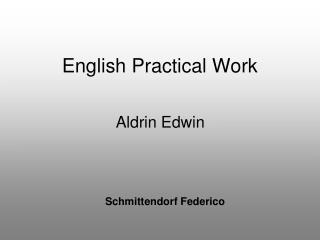 English Practical Work