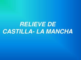 RELIEVE DE  CASTILLA- LA MANCHA