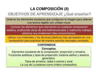 LA COMPOSICIÓN (II)