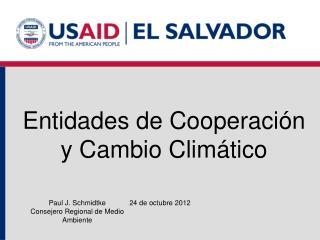 Entidades de Cooperación y Cambio Climático