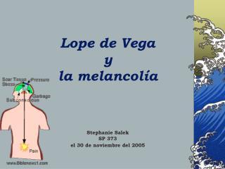 Lope de Vega  y  la melancol ía