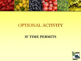 OPTIONAL ACTIVITY