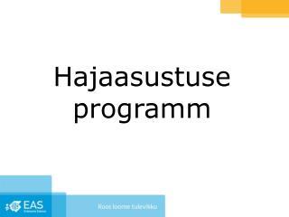 Hajaasustuse programm
